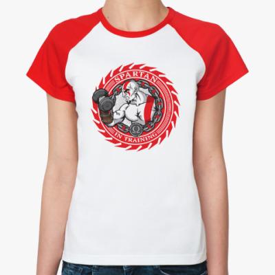 Женская футболка реглан Спартанцы тренируются