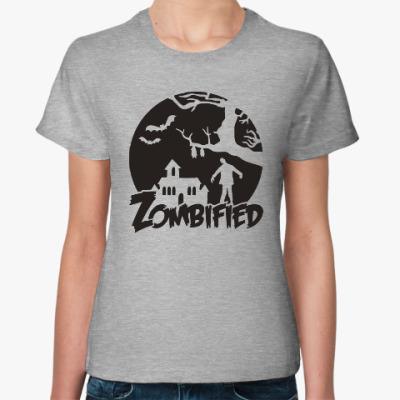 Женская футболка Зомбификация