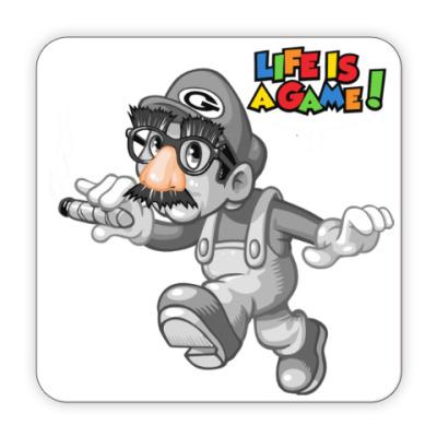 Костер (подставка под кружку) Марио - жизнь игра