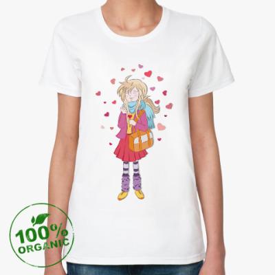 Женская футболка из органик-хлопка Намекни о своих чувствах!