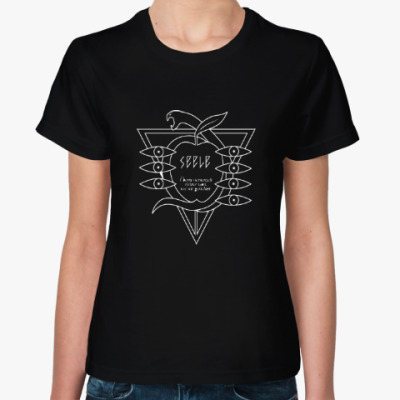 Женская футболка Евангелион / Evangelion - Seele Logo