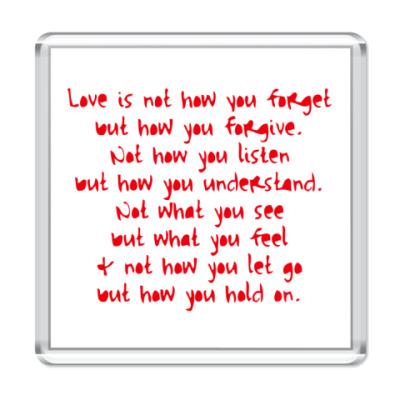 Магнит What is Love?