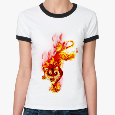 Женская футболка Ringer-T Tiger