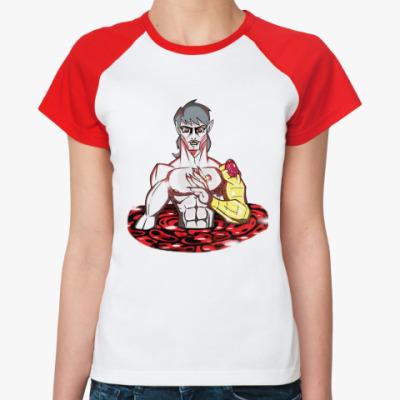Женская футболка реглан Дракула