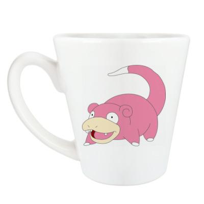 Чашка Латте 'Покемон Слоупок'