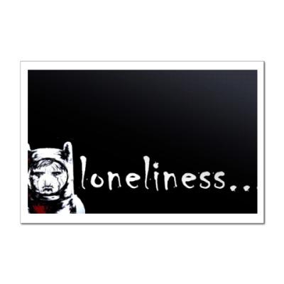 Наклейка (стикер) Одиночество
