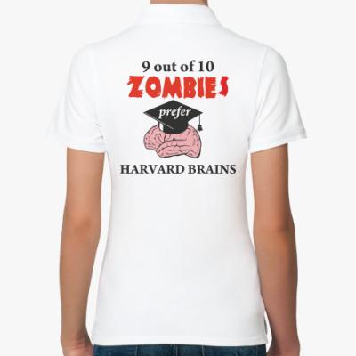 Женская рубашка поло Harvard brains