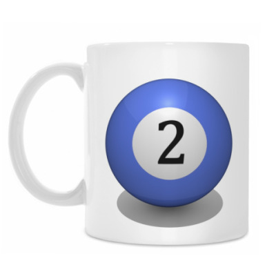 Кружка 'Бильярдный шар 2'