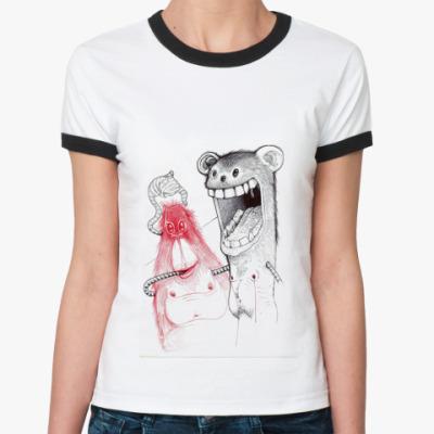 Женская футболка Ringer-T Freaky