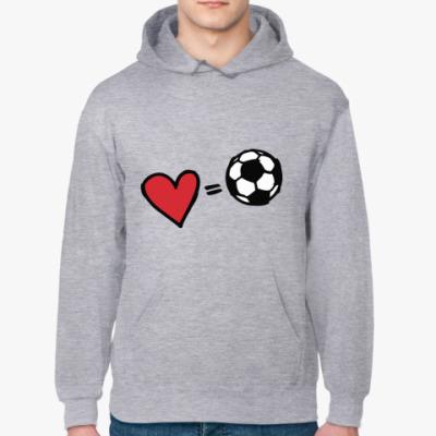 Толстовка худи Love equals football