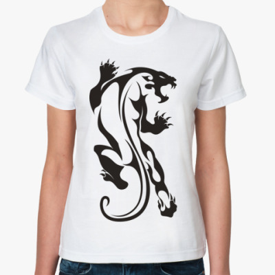 Классическая футболка Дикая Кошка