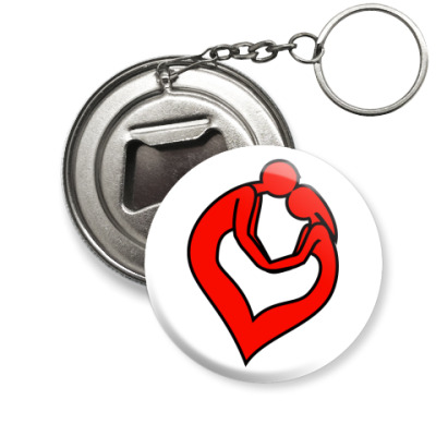 Брелок-открывашка пара сердце