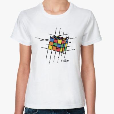 Классическая футболка Кубик Рубика   Rubiks Cube