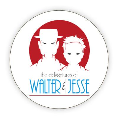 Костер (подставка под кружку) Уолтер и Джесси