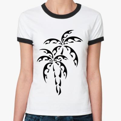 Женская футболка Ringer-T Пальмы