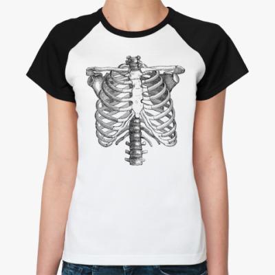 Женская футболка реглан Bones