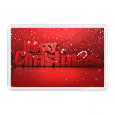 Магнит Merry Cristmas, Xmas