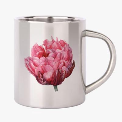 Цветок тюльпан акварель