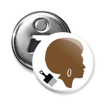 Магнит-открывашка Afro Lady