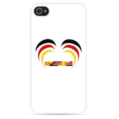 Чехол для iPhone Я люблю тебя по-немецки