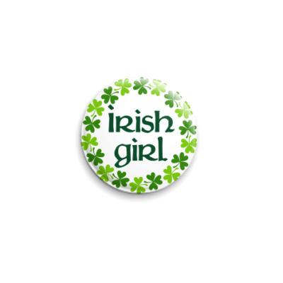 Значок 25мм Irish girl