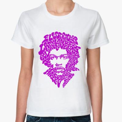 Классическая футболка Hendrix  songs p Жен