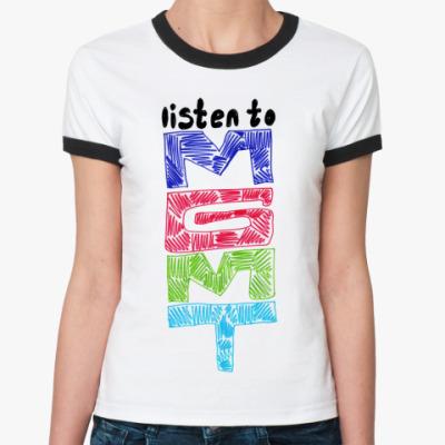 Женская футболка Ringer-T   mgmt