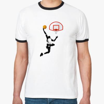 Футболка Ringer-T  Баскетбол