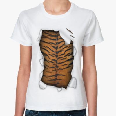 Классическая футболка Тигр