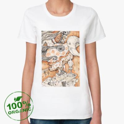 Женская футболка из органик-хлопка  Алиса в Стране чудес