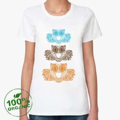 Женская футболка из органик-хлопка Три совы