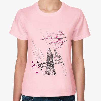 Женская футболка ЛЭП. Сакура
