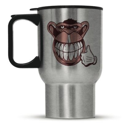 Кружка-термос Веселая обезьяна
