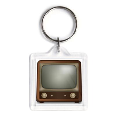 Брелок  старый телевизор