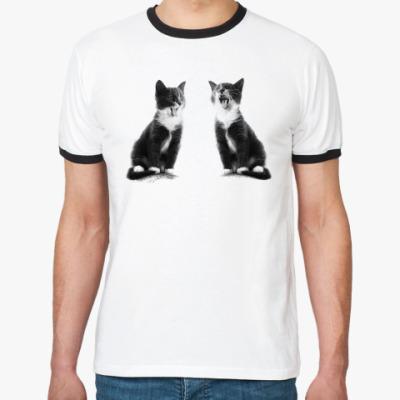 Футболка Ringer-T Две кошки