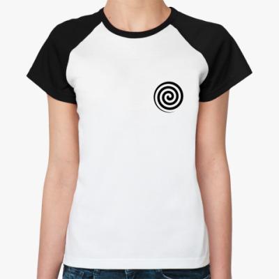Женская футболка реглан Гипнофутболка