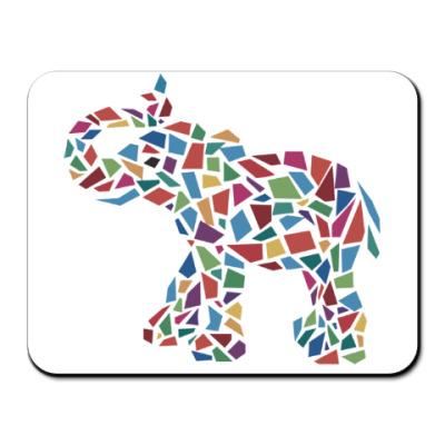 Коврик для мыши Слон - мозаика