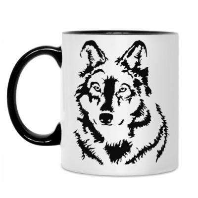 Кружка Белый волк