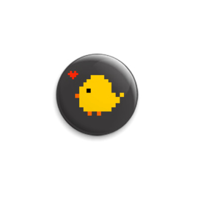 Значок 25мм  Цыпленок Chirpy heart