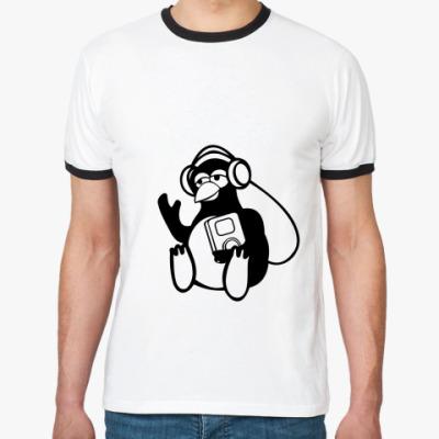 Футболка Ringer-T Пингвин