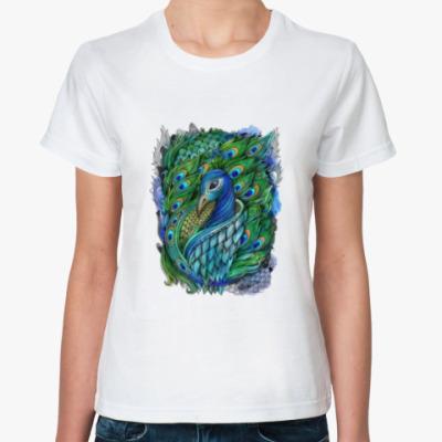 Классическая футболка 'Павлин'