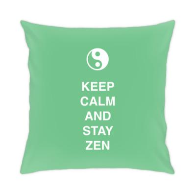 Подушка Keep calm and stay zen