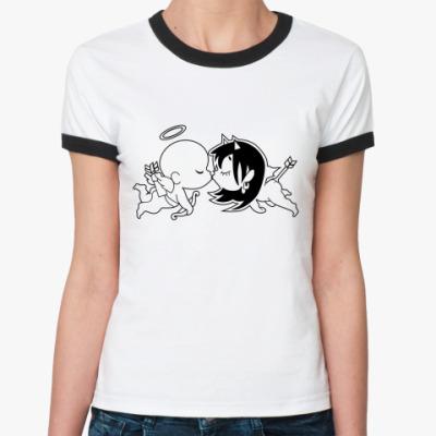 Женская футболка Ringer-T Купидоны
