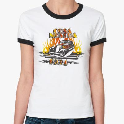Женская футболка Ringer-T Коза Ностра