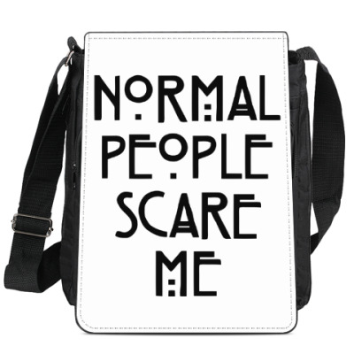 Сумка-планшет Normal People Scare Me