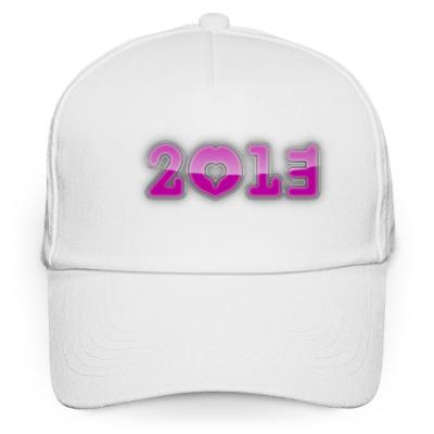 Кепка бейсболка розовая надпись 2013