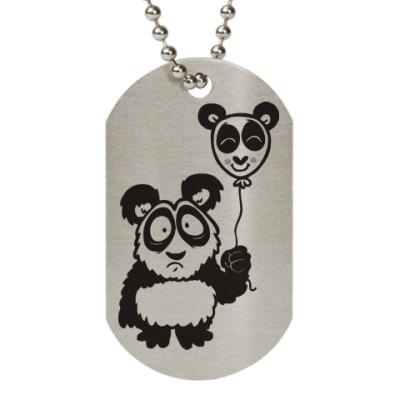 Жетон dog-tag Панда с шариком