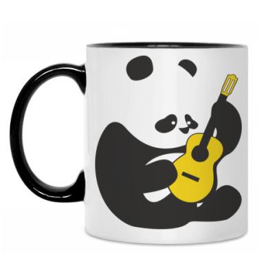 Кружка Панда играет на гитаре