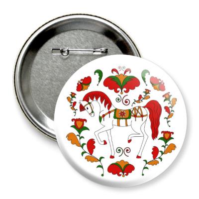 Значок 75мм Russian folk ornament