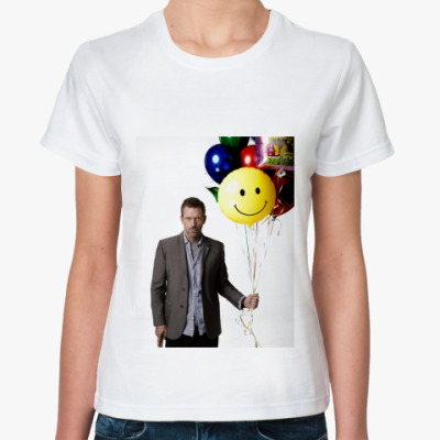 Классическая футболка   хаус и шарик